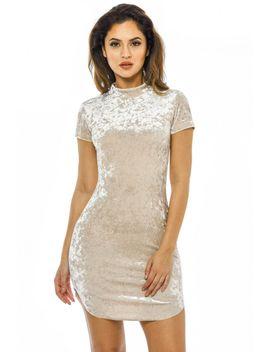 velvet-high-neck--bodycon-dress by ax-paris