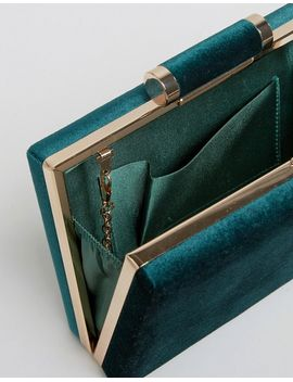 boohoo-velvet-box-clutch-bag by boohoo