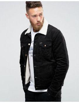 wrangler-black-borg-lined-denim-jacket by wrangler