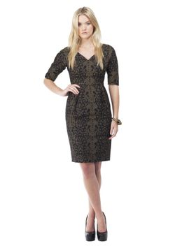 black-lace-jacquard-shift-dress by gucci