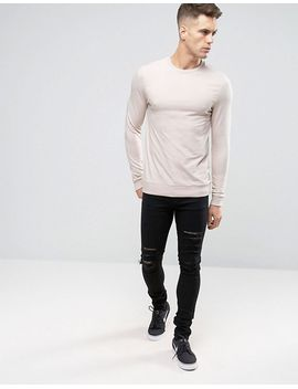 asos-lightweight-muscle-sweatshirt-in-light-pink by asos