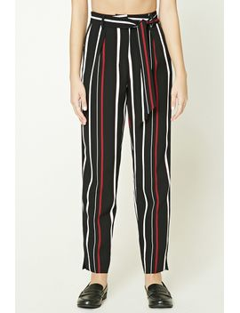 striped-tie-waist-pants by forever-21