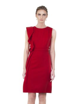 red-techno-couture-sheath-dress---archived by valentino