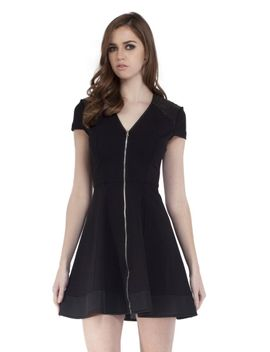 zipper-front-ponte-dress by cut-25-by-yigal-azrouel