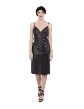leather-camisole-strap-dress by valentino