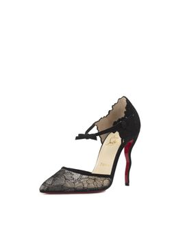 magicadiva-lace-and-suede-pumps---black by christian-louboutin