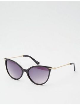 asos-cat-eye-sunglasses-in-fine-frame-and-metal-arms by asos-collection