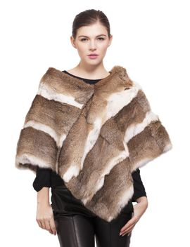 goma-rabbit-fur-poncho by adrienne-landau