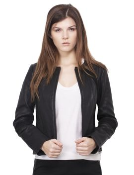 micky-leather-jacket---black by tory-burch