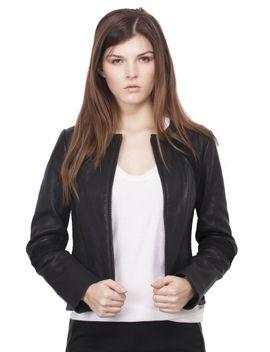 micky-leather-jacket---black by tory-burch
