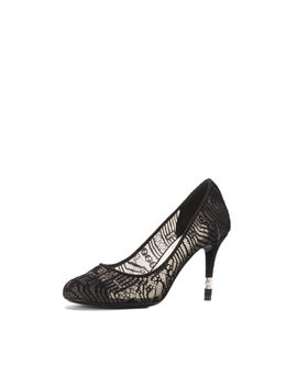 lace-and-suede-pump-embellished-with-a-pearl---black by chanel