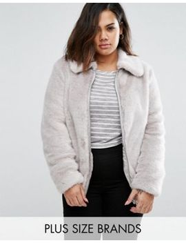 new-look-curve-faux-fur-bomber-jacket by new-look-plus
