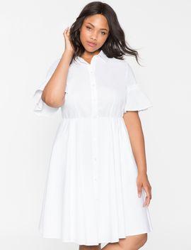 ruffle-sleeve-shirt-dress by eloquii