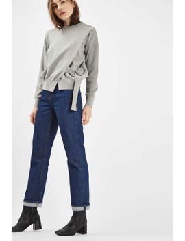 long-sleeve-d-ring-wrap-sweatshirt by topshop
