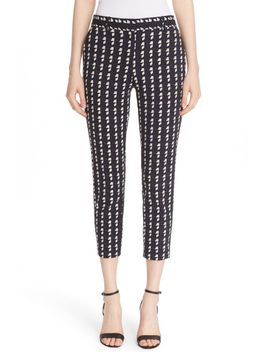 treeca-2-geometric-plaid-cigarette-pants by theory