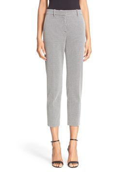 treeca-k-micro-houndstooth-slim-crop-knit-pants by theory