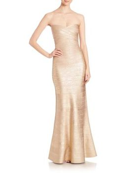 strapless-bandage-gown by herve-leger