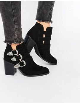 lost-ink-ardell-western-heeled-ankle-boots by lost-ink