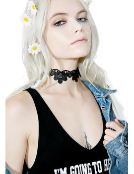 wilted-flora-lace-choker by 3-am-imports