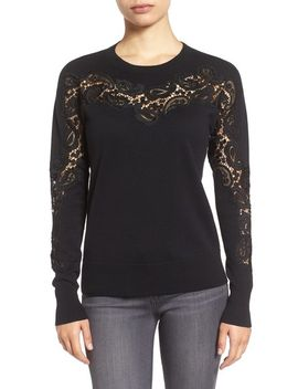 lace-inset-sweater by halogen®
