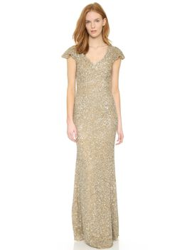 v-neck-petal-gown by theia
