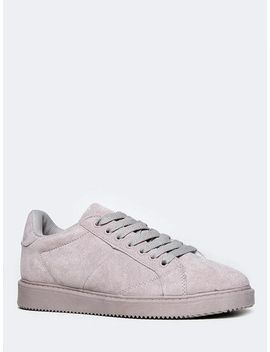 faux-suede-sneaker by qupid