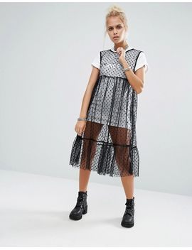 milk-it-vintage-mesh-spot-layer-dress-with-space-cadet-t-shirt by milk-it