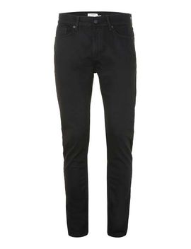 black-stretch-skinny-jeans by topman