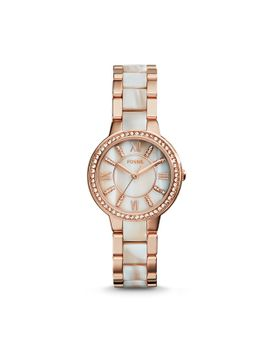 virginia-rose-tone-&-horn-acetate-stainless-steel-watch by fossil
