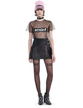 runway-paneled-leather-and-lace-mini-skirt by alexander-wang