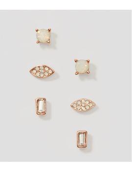 baguette-crystal-stud-earring-set by loft