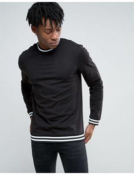 new-look-long-sleeve-top-in-black-with-stripe-detail by new-look