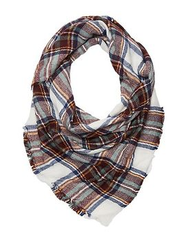 fringed-plaid-scarf by charlotte-russe
