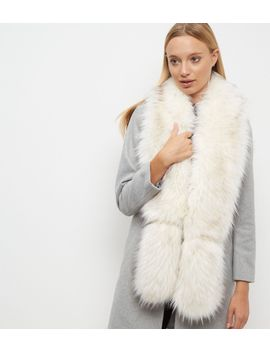 white-faux-fur-stole by new-look