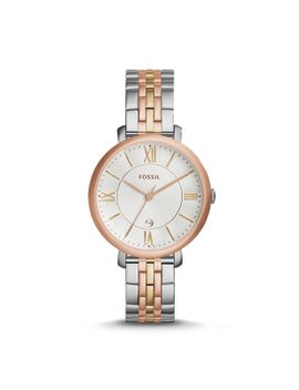 jacqueline-tri-tone-stainless-steel-watch by fossil