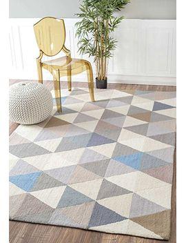 handmade-modern-geometric-wool-area-rug by nuloom