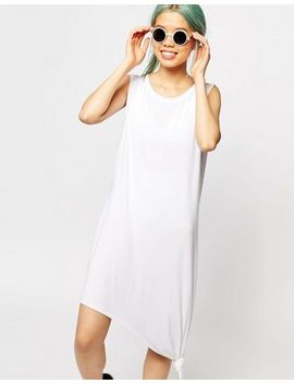 monki-sleeveless-knotted-midi-dress by monki