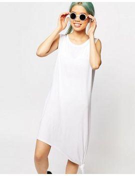 monki-sleeveless-knotted-midi-dress by monki