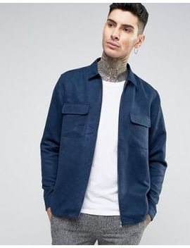 asos-suedette-overshirt-in-navy by asos