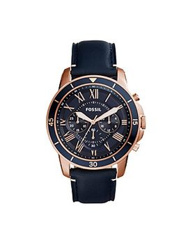 fossil®-mens-44mm-grant-sport-chronograph-watch-with-leather-strap by fossilmore