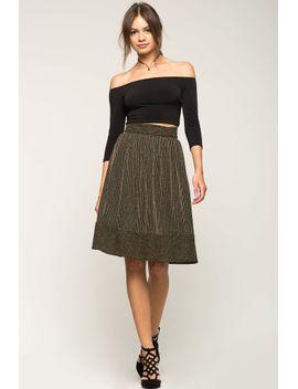 midi-flare-glitter-skirt by agaci