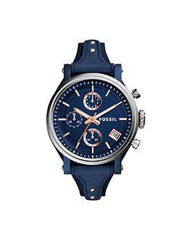 fossil®-womens-navy-38mm-original-boyfriend-sport-chronograph-watch by fossilmore