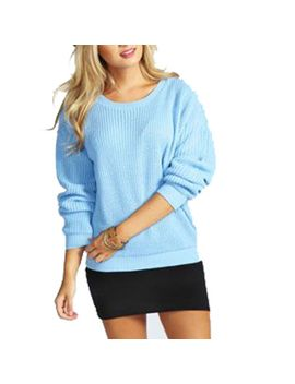 ladies-oversized-baggy-jumper-knitted-womens-sweater-chunky-thick-knit-top by fashions