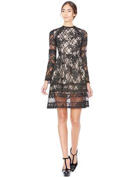 black-janae-flare-dress by alice-and-olivia