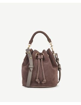 suede-mini-bucket-bag by ann-taylor