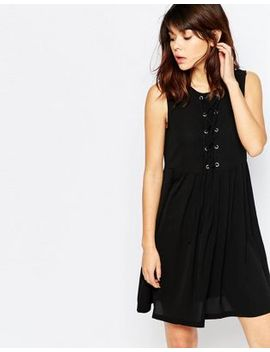 brave-soul-skater-dress-with-tie-up-front by dress
