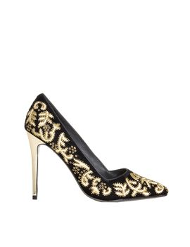 dina-brocade-embroidery-velvet-heel by alice-and-olivia