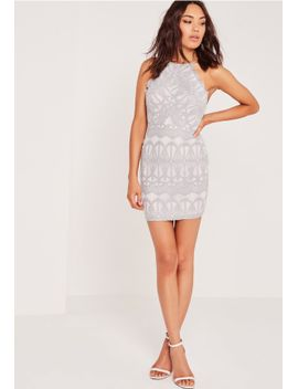 lace-strappy-bodycon-dress-grey by missguided