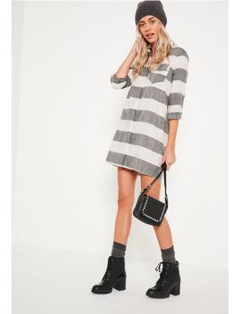 grey-check-shirt-dress by missguided