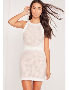 fishnet-overlay-shift-dress-white by missguided